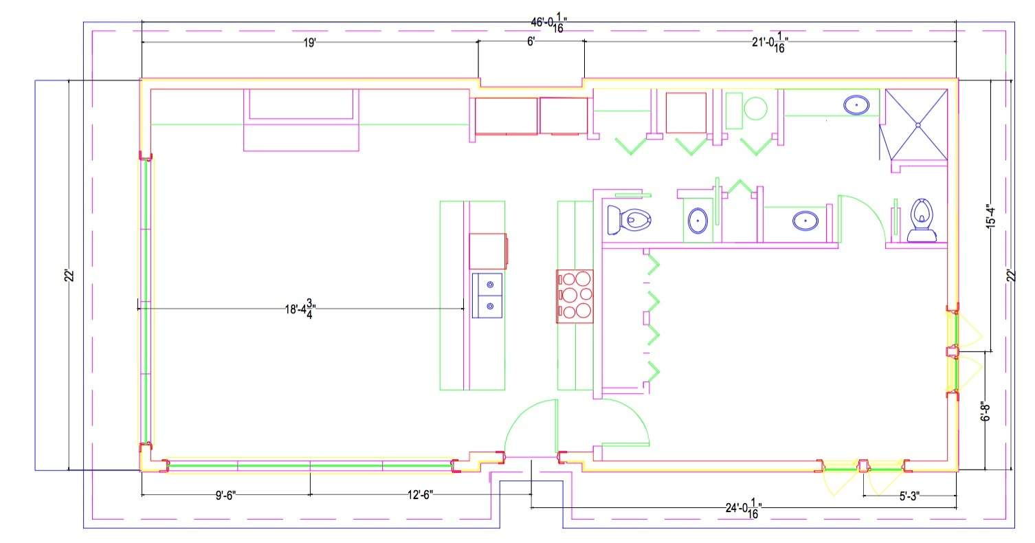 Extended Flat Roof Bungalow
