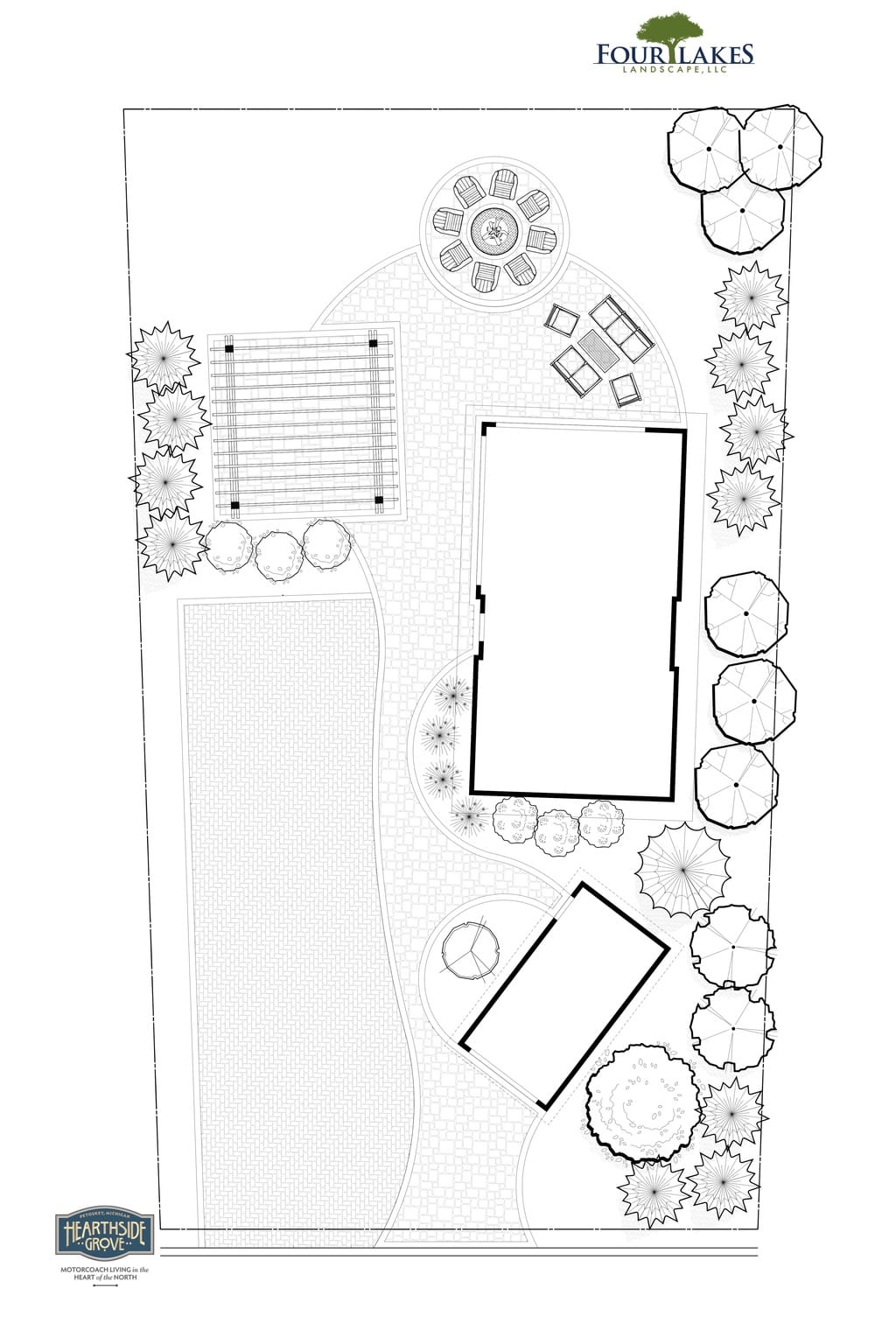 Hearthside Grove Motorcoach Resort Design - Lot 223