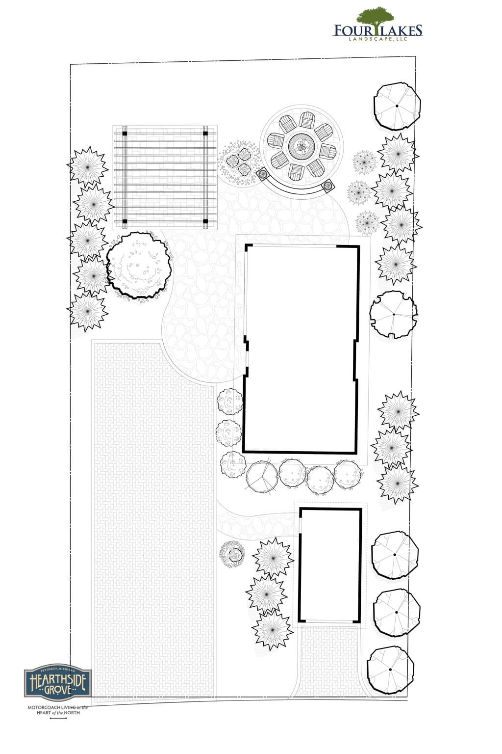 Hearthside Grove Motorcoach Resort Design - Lot 226