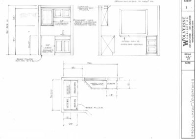 Concept Kitchen Layout and Drawing